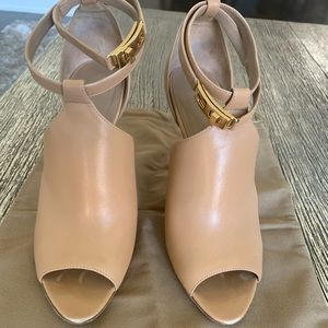 Burberry open toe booties